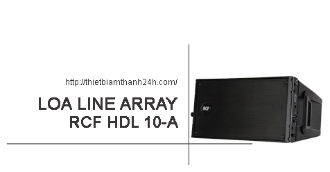 loa array rcf hdl 10a active line array